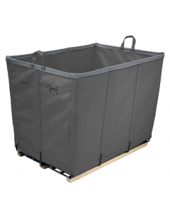 Steele Canvas 14 bu. Gray Permanent Style Vinyl Basket