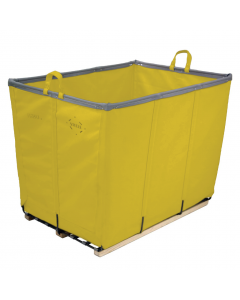 Steele Canvas 14 bu. Yellow Permanent Style Vinyl Basket