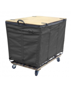 Steele Canvas 10 bu. Gray Vinyl Lockable Wood-Covered Truck
