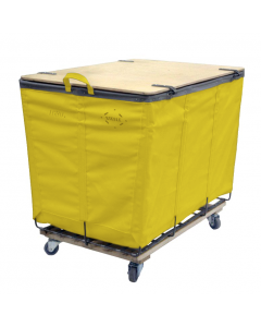 Steele Canvas 10 bu. Yellow Vinyl Lockable Wood-Covered Truck