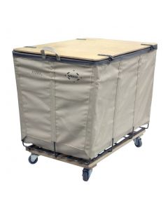Steele Canvas 10 bu. White Canvas Lockable Wood-Covered Truck