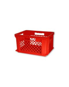 "SSI Schaefer Euro-Fix® Modular Straight Wall Containers 15.8"" x 11.9"" x8.7"" Solid Base & Mesh Sides Red"
