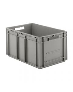 "SSI Schaefer Euro-Fix® Modular Straight Wall Containers 23.7"" X 15.8"" X 11.3"" Solid Base & Sides Gray"