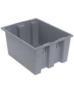 "Quantum Stack and Nest Tote 19-1/2"" x 15-1/2"" x 10"" Gray"