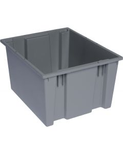 "Quantum Stack and Nest Tote 19-1/2"" x 15-1/2"" x 13"" Gray"