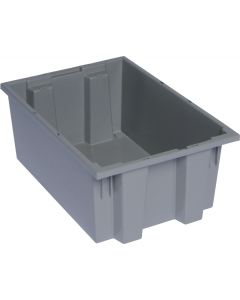 "Quantum Stack and Nest Tote 19-1/2"" x 13-1/2"" x 8"" Gray"