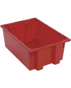 "Quantum Stack and Nest Tote 19-1/2"" x 13-1/2"" x 8"" Red"