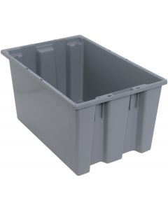 "Quantum Stack and Nest Tote 23-1/2"" x 15-1/2"" x 12"" Gray"