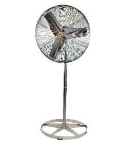 "Airmaster Stainless Steel Food Service Air Circulator 20"" Propeller Diameter Floor Model"