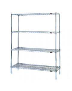 "Eagle Group Wire Shelving 4 Shelf Starter Unit EagleBrite® 18"" W x 24"" L  x 63"" H"