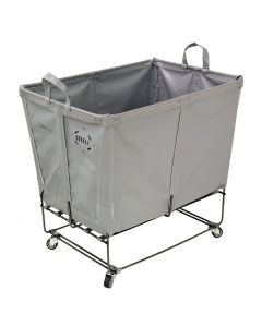 Steele Canvas 6 bu. Permanent Style Gray Vinyl Elevated Truck