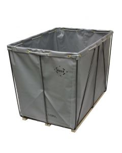 Steele Canvas 6 bu. Gray  Removable Liner Vinyl Basket