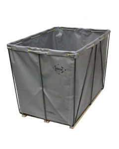 Steele Canvas 14 bu.  Gray Removable Liner Vinyl Basket