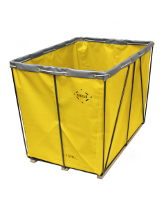 Steele Canvas 6 bu. Yellow  Removable Liner Vinyl Basket