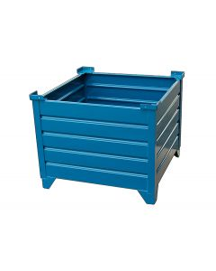 "Corrugated Steel Bulk  Bins 35"" x 35"" x 24"" Blue"