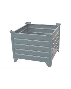 "Corrugated  Steel Bulk Bins 48"" x 48"" x 24""  Grey"
