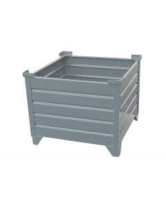 "Corrugated Steel Bulk Bins 24"" x 30"" x 24"" Grey"