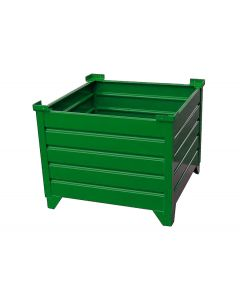 "Corrugated Steel Bulk Bins 24"" x 30""x 24"" Green"