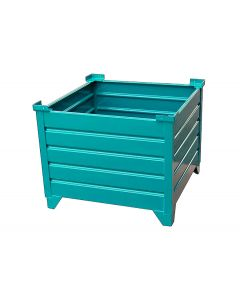 "Corrugated  Steel Bulk Bins 48"" x 48"" x 24"" Teal"