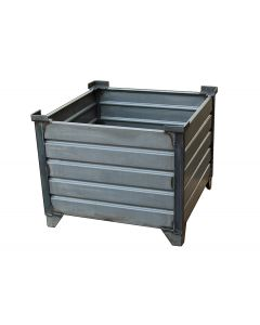 "Corrugated Steel Bulk Bins 35"" x 35"" x 24"" Unpainted"