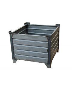 "Corrugated  Steel Bulk Bins 48"" x 48"" x 24"" Unpainted"