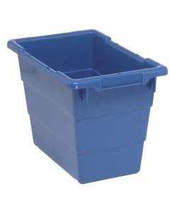"Cross Stack Tub Blue 17-1/4"" x 11"" x 12"""