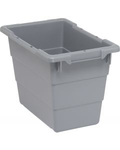 "Cross Stack Tub Gray 17-1/4"" x 11"" x 12"""