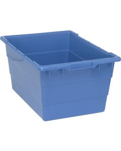 "Cross Stack Tub Blue 23-3/4"" x 17-1/4"" x 12"""