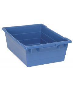 "Cross Stack Tub Blue 23-3/4"" x 17-1/4"" x 8"""