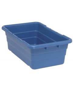 "Cross Stack Tub Blue 25-1/8"" x 16"" x 8-1/2"""