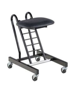 "Folding Ergonomic Sit Stand Stool 12-1/2"" x 9-1/2"" x 18"" - Black"