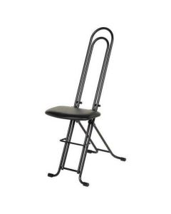 "Folding Ergonomic Sit Stand Stool 13"" x 20"" x 33"" - Black"