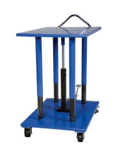 "Vestil Manual Hydraulic Post Table 32"" W x 42"" L, 2000 lb capacity"