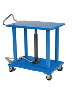 "Vestil Manual Hydraulic Post Table 24"" W x 36"" L, 4000 lb capacity"