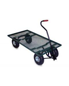 """Vestil Landscape Platform Cart 24"""" x 48"""" Green Metal Mesh"""