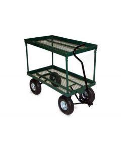 """Vestil Landscape Cart 24"""" x 48"""" Green Metal Mesh"""