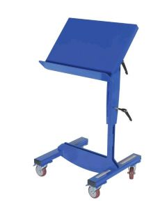"Vestil Mobile Tilting Work Table 24-1/2"" x 16"" with Lever Handle, 200 lb. Capacity"