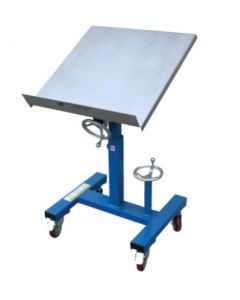 "Vestil Mobile Tilting Work Table 24"" x 24"" with Mechanical Crank, 300 lb. Capacity"