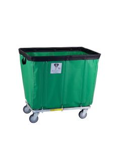 R & B Wire 8  Bu. Fully Sewn-On Vinyl Basket Truck Green
