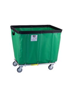 R & B Wire 12 Bu. Fully Sewn-On Vinyl Basket Truck Green