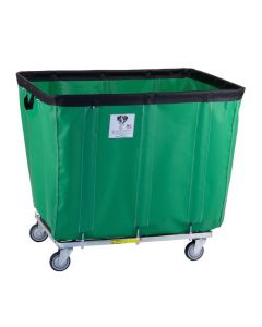 R & B Wire 18 Bu. Fully Sewn-On Vinyl Basket Truck Green