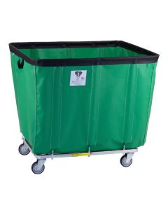 R & B Wire 20 Bu. Fully Sewn-On Vinyl Basket Truck Green