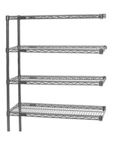 "Eagle Group Wire Shelving 4 Shelf Add-on Unit Chrome 18"" W x 24"" L  x 63"" H"