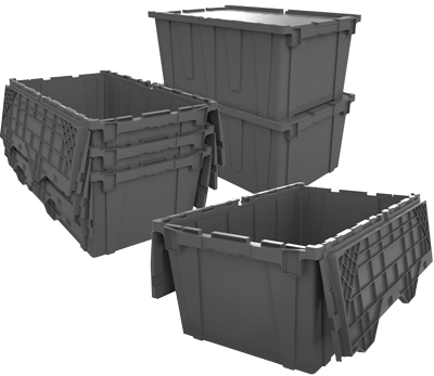 AttachedLid Tote Containers